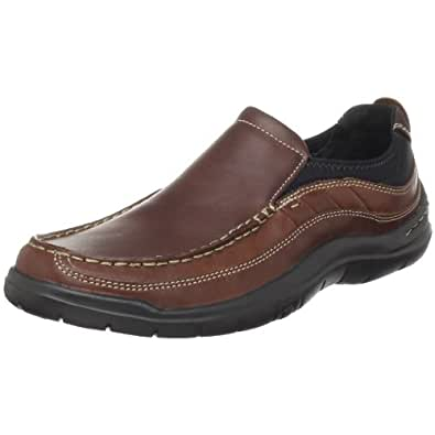 Clarks Men's Axl Moc Toe Slip-On,Brown,7 M US