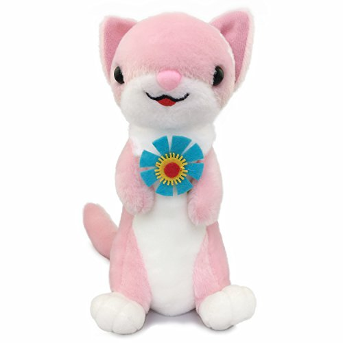 Ice King Bear Pretty Ferret - Stuffed Animals Plush Toy - 10 Inches Tall (Pink) (Ferret Plush)