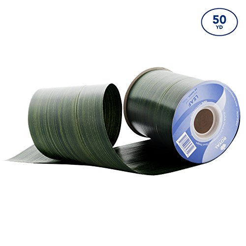 Green Aspidistra Ti Leaf Pattern Poly Satin Waterproof Ribbon 4