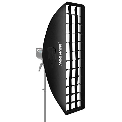 Neewer 8 x 36 inches/20 x 90 centimeters Honeycomb Grid Softbox with Bowens Mount Speedring for Speedlite Studio Flash Monolight,Portrait and Product Photography