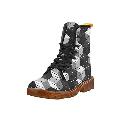 D-story Shoes Dice Lace Up Martin Boots Per Le Donne
