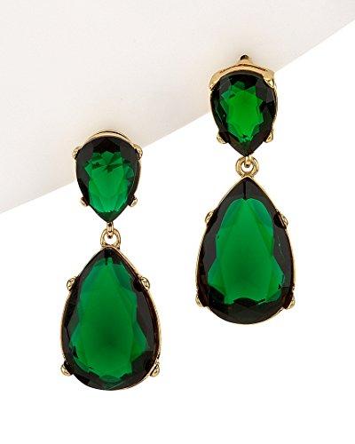 Kenneth Jay Lane Jolie Crystal Drop Earrings, Green ()