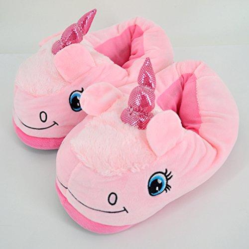 1 Women Monique Stuffed Cute Unicorn Children Slippers Slippers Plush Winter Pink Warm Autumn 4wqHfrw75n