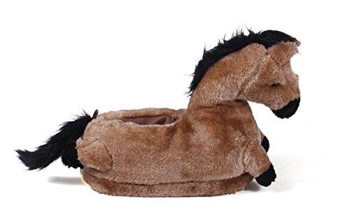 50+ Stili - Premium Piede Pieno Piedi Felici Uomo E Donna Pantofole Animali Cavallo