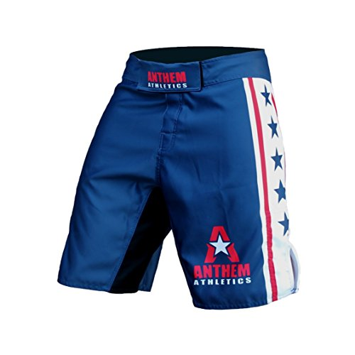 Anthem Athletics RESILIENCE MMA Shorts - Blue, White & Red - 33""