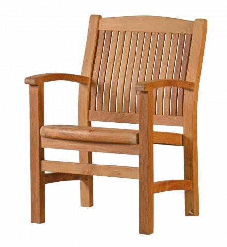 Kai Wiechmann®, eleganter Sessel aus der Premium-Serie Brighton gefertigt aus Teakholz mit Armlehne und Rückenlehne/ perfekte ergonomische Rücken- und Sitzfläche/ Gartenmöbel/ Stuhl/ Gartenstuhl/ Teak-Sessel/ Gartensessel/ Premium- Qualität