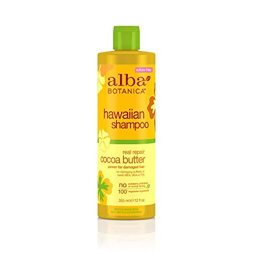 (Alba Botanica Hawaiian Hair Care Cocoa Butter Real Repair Shampoo, 12 Fluid Ounce )