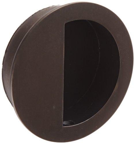 (Rockwood 95R.10B Bronze Round Flush Pull, 3-1/2