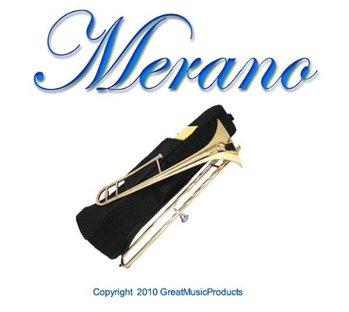 NEW Merano B Flat Gold Slide Trombone with Case+Metro Tuner+Black Music Stand by Merano