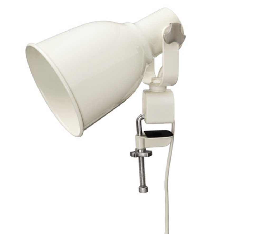 IKEA Hektar Clamp Lamp Wall Spotlight (White)