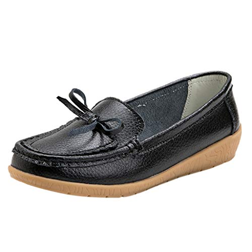 ANJUNIE Leisure Women Round Toe Loafers Shoes Wedges Single Pure Peas Boat Shoes Sneaker