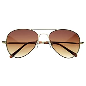zeroUV - Small Classic Aviator Sunglasses 50mm Aviators (Gold)