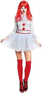 Disfraz Payasa Sádica Gris Mujer (Talla L) Halloween: Amazon.es ...