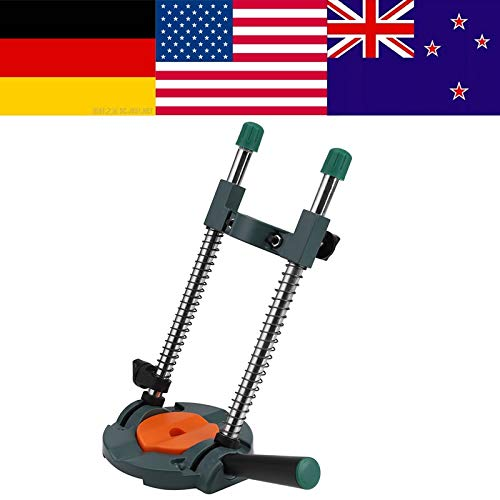 Maslin Precision Drill Guide Pipe Drill Holder Stand Drilling Guide with Adjustable Angle and Removeable Handle DIY tool Bracket tool - (Ships From: United States)