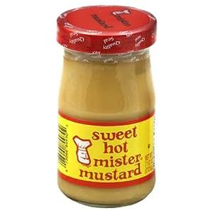 Mister Mustard sweet hot mustard 7.5 oz Glass Jar