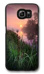 Dandelion Sunrise Custom Samsung Galaxy S6/Samsung S6 Case Cover Polycarbonate Black