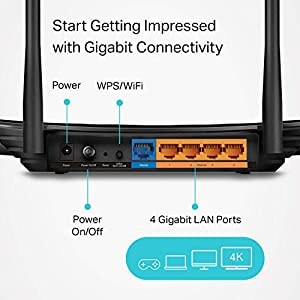 TP-Link AC1200 WiFi Router - Dual Band Gigabit, MU-MIMO, Black (Archer A6 V2)