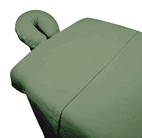 High Quality - 3pc Microfiber Massage Table Sheet Set - Sage - Exclusively by Blowout Bedding RN# 142035