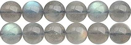 Abalorios de Piedras Preciosas Labradorita Naturales Redondos de 5mm Perlas para Fabricar Joyas Cerca de los 38cm Aprox 70 Piezas