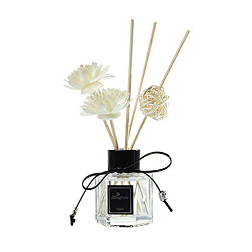 Orcbee  _Reed Oil Diffusers with Natural Sticks Glass Bottle and Scented Oil 50ML (G)