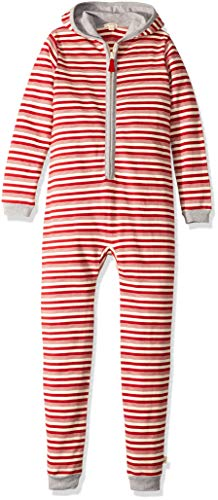 Burt's Bees Baby Holiday Family Jumpbees, Peppermint Stripe Jumpsuit, One-Piece Romper