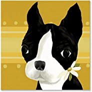 Oopsy daisy bea The Boston Terrier Stretched Canvas Wall Art by Meghann O'Hara, 21 by 21-