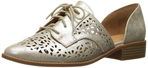 BC Footwear Womens Happy Youre Here Pointed Toe Flat Silver UbKC53