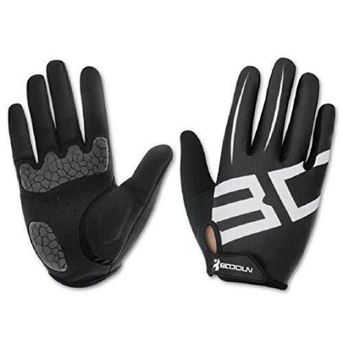 Ikevan Ikevan 1 Pair Winter Outdoor Sports Driving Mens Women Gloves Windproof Breathable Anti-Slip Full Finger Gloves Fitness Cotton Elasticity Mitten (S, Black)