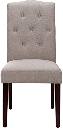 Amazon Com Better Homes And Gardens Parsons Dining Room Table Chair Beige Beige Furniture Decor