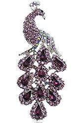Gorgeous Crystal Rhinestone Peacock Bird Fashion Jewelry Pin Brooch