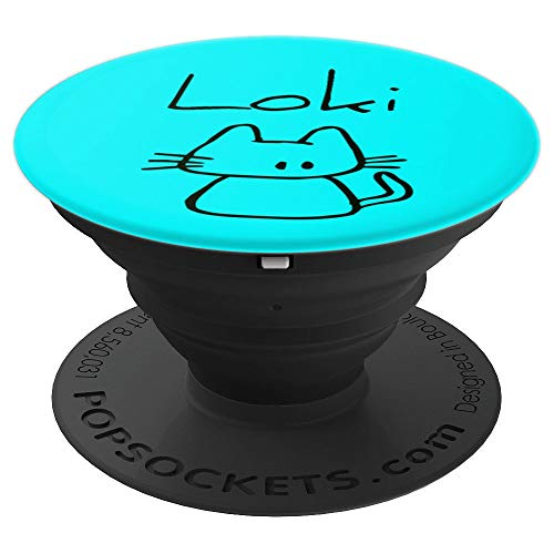 Loki the cat, funny gift with my cats name on a - PopSockets Grip and Stand for Phones and Tablets