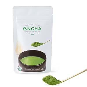 Encha Organic Matcha (Ceremonial-grade, premium 1st harvest, 30g/1.06oz)