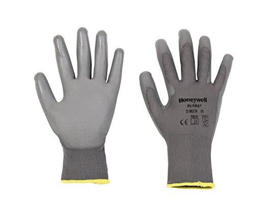 Honeywell 2100250–08Taille 8PU Première Gants en tricot–gris _ P, 2100250-09