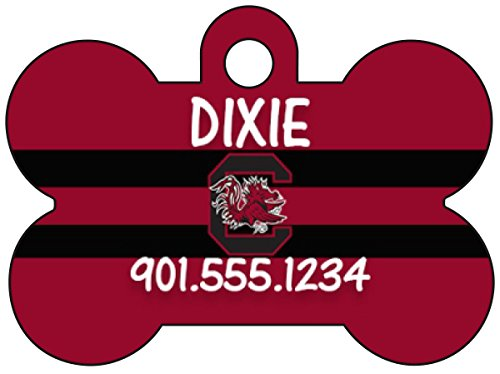 Usc Football Gamecock (South Carolina Gamecocks Pet Id Tag for Dogs & Cats Personalized w/ Name &)