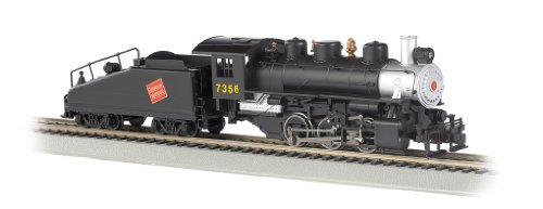 - Bachmann Industries USRA 060 Locomotive with Smoke and Slope Tender Canadian National #7356 HO Scale Train Car
