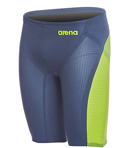 (Arena 000920 Men's Powerskin Carbon Flex VX Jammer, Navy Grey-Fluo Yellow - 30)