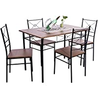 5-Piece Dining Table Set Home Kitchen Table with 4 Chairs...