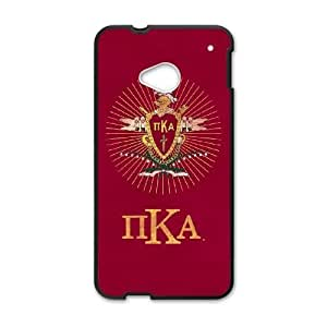 Durable Hard cover Customized TPU case Pi Kappa Alpha Symbol HTC One M7 Cell Phone Case Black