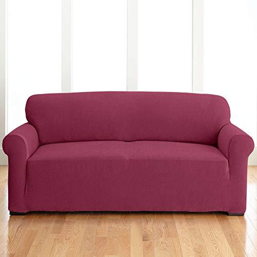 BrylaneHome Bh Studio Brighton Stretch Sofa Slipcover - Burgundy