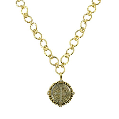 VSA - Virgins Saints and Angels Betty Chain San Benito Necklace Gold + Diamond Crystal