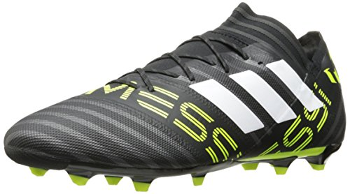 Black Firm Ground (adidas Men's Nemeziz Messi 17.2 Firm Ground Cleats Soccer Shoe, Black/White/Solar Yellow, (8 M US))