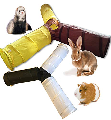 - CDL 3 Ways Foldable Pet Fun Tunnel Rabbit Ferret Guinea Pig Small Animal Play Toy