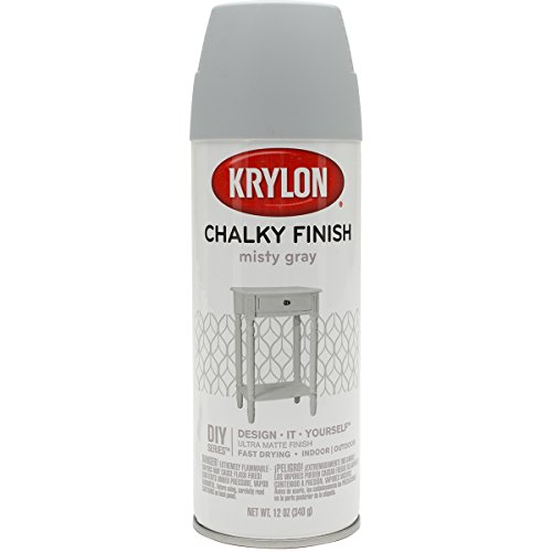 Krylon K04102007 Chalky Finish Spray Paint, Misty Gray, 12 Ounce