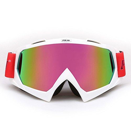 SE7VEN Lunettes Pour Les Sports D'hiver,Anti Brouillard Snowboard Goggles Sphérique Réglable Unisexe Plus De Lunettes blanc
