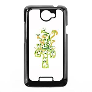 HTC One X Cell Phone Case Black Aztec magic mushroom character PW1540147