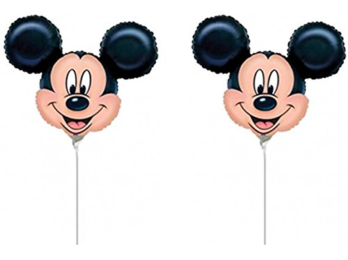 By Broward Balloons Mickey Mouse Head Mini Shape 14 Inch Balloons (Qty 4) (Mini Mickey Balloon)