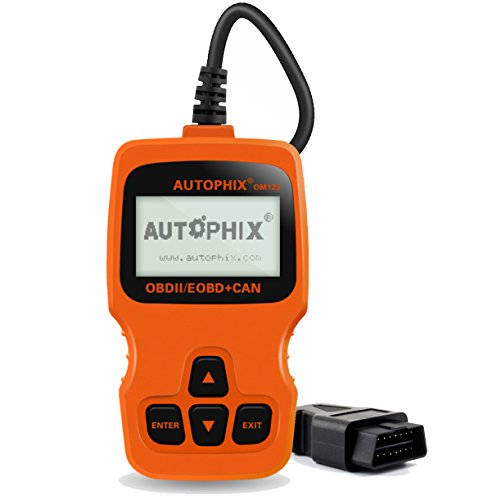 AUTOPHIX OM123 OBD II Car Computer Diagnostic Scan Tool Small Automotive Code Scanners Check Auto Engine Light Fault Codes Reader for OBDII OBD2 Vehicle (Orange) Auto Engine Computer