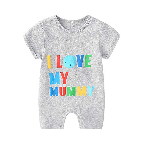 Newborn Baby Boy Clothes I Love My Daddy Sleepsuit Romper Grey -