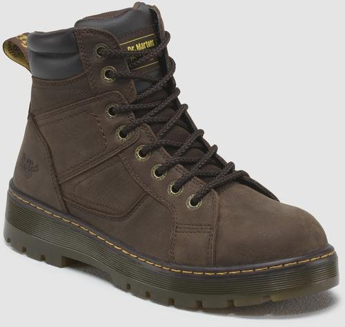 Dr. Martens Mens Duct 8-Eye Lace Wyoming Leather Dark Brown Low Boot 11 D M US ()