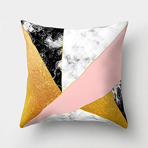 AHELUBZT Impresión de mármol geométrica Funda de cojín Sofá ...